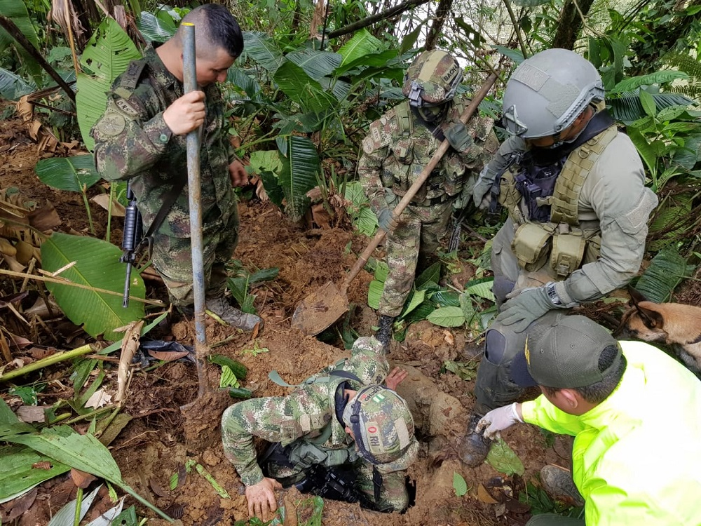 Colombian Army Dismantles Two Cocaine Labs