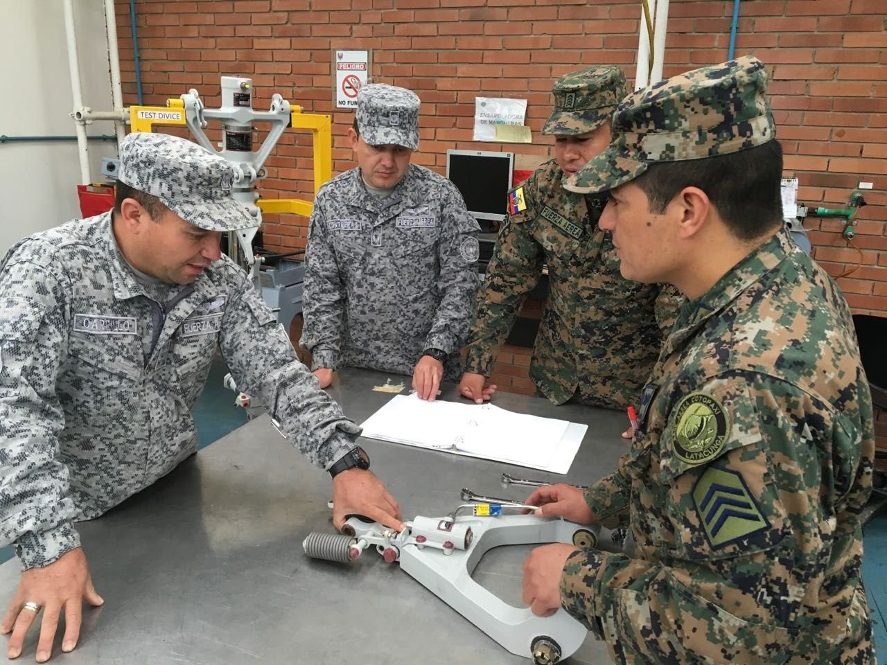 Colombian and Ecuadorean Air Forces Train in Aircraft Maintenance