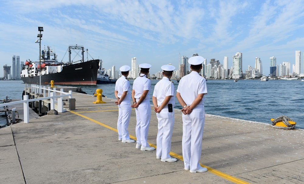 Colombia Welcomes U.S. Training Ship Kennedy