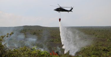Colombian Military Forces Put Out Forest Fires