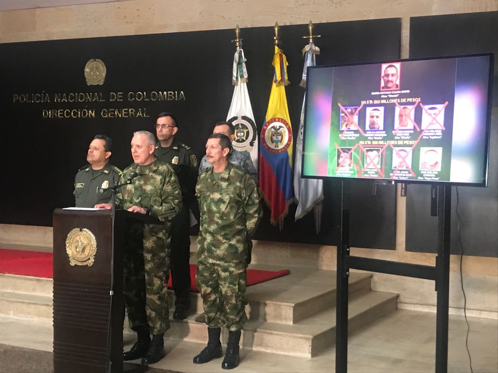 Colombia Neutralizes Third Leader of the Gulf Clan