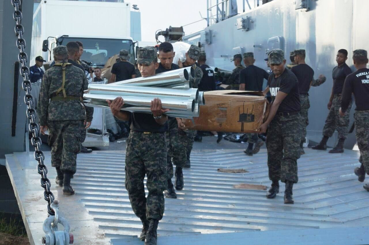 Honduran Navy Ship Conducts First Humanitarian Aid Mission