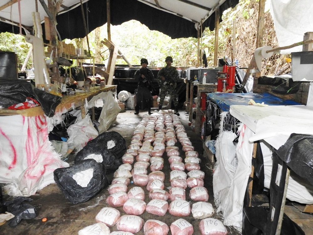 Colombian Army Destroys Cocaine Mega Lab in Nariño