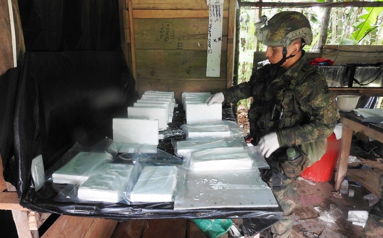 Colombia Seizes Mega Cocaine Processing Lab