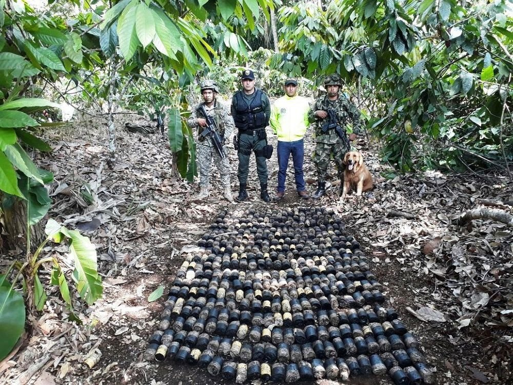 Colombian Military Forces Find Hundreds of Antipersonnel Mines