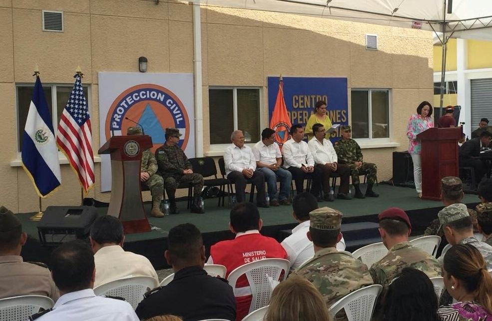 El Salvador Opens Administrative and Training Center for Emergencies