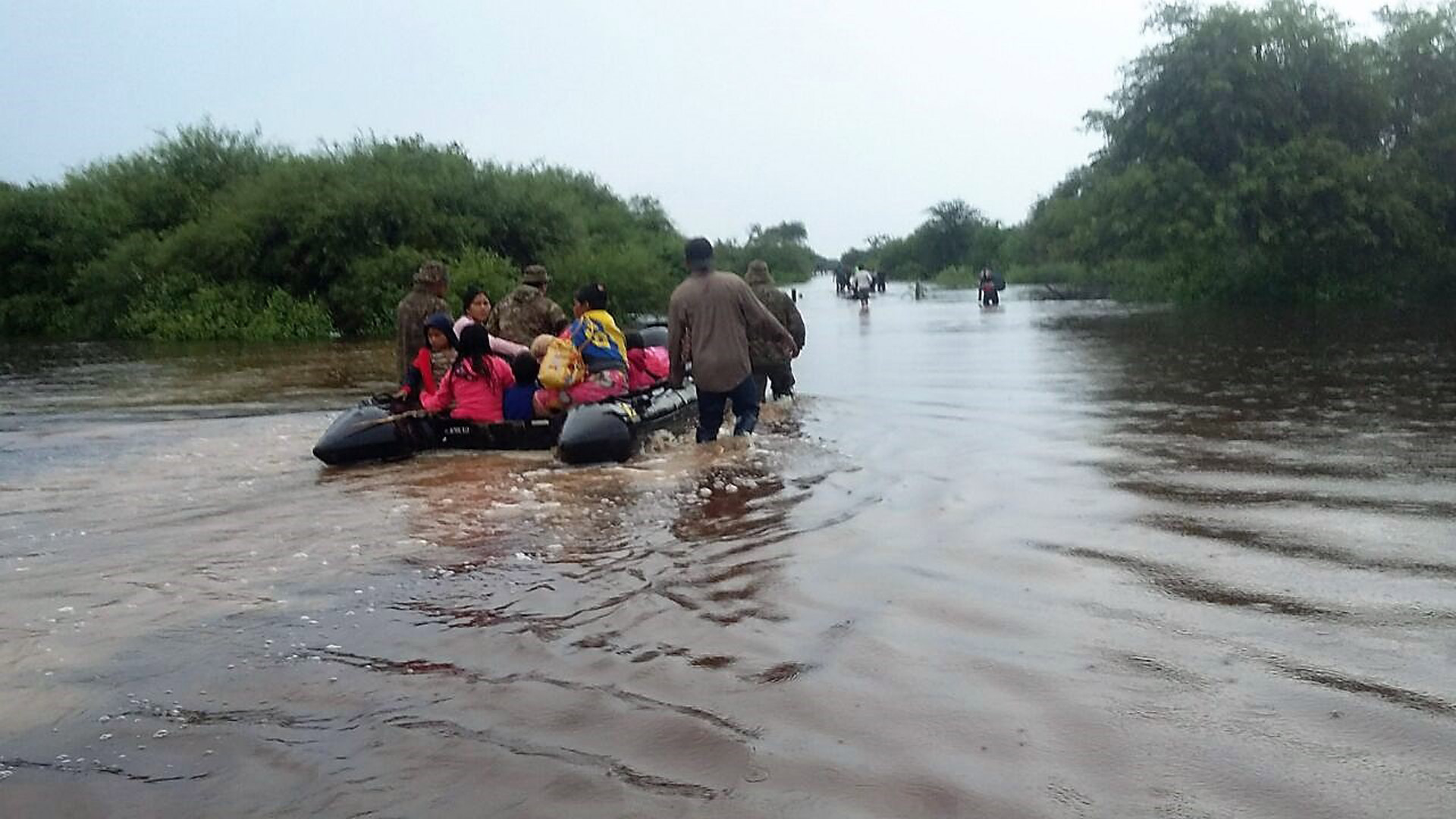 Argentine Armed Forces Aid Flood Victims