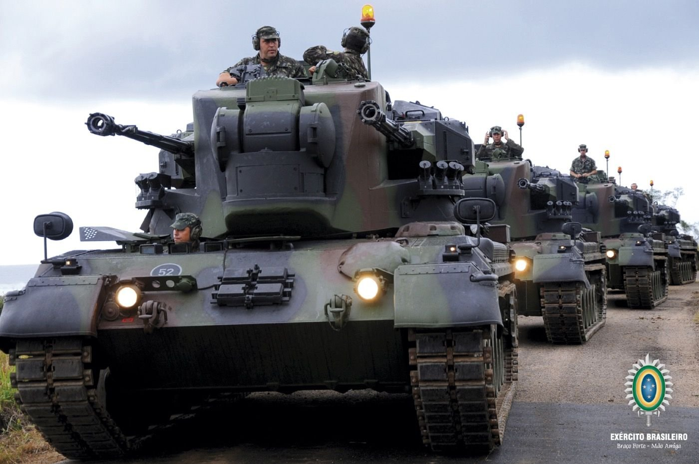 U.S. Army Transfers 50 Armored Combat Vehicles to Brazilian Army