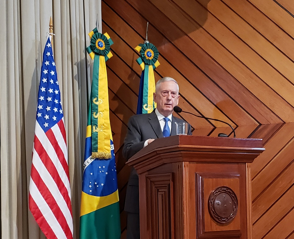 U.S. Defense Secretary Visits Brazilian War College