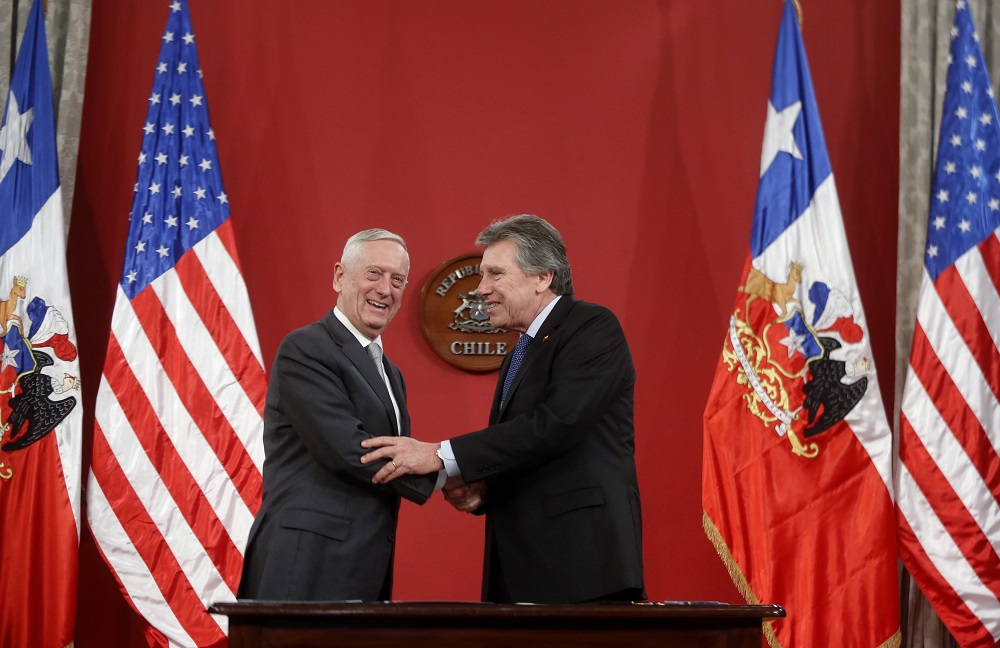 Mattis's Visit Forges Chilean-U.S. Cybersecurity Agreement