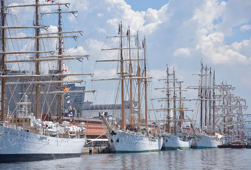 Training Ships from Latin American Navies Kick Off Exchange Regatta
