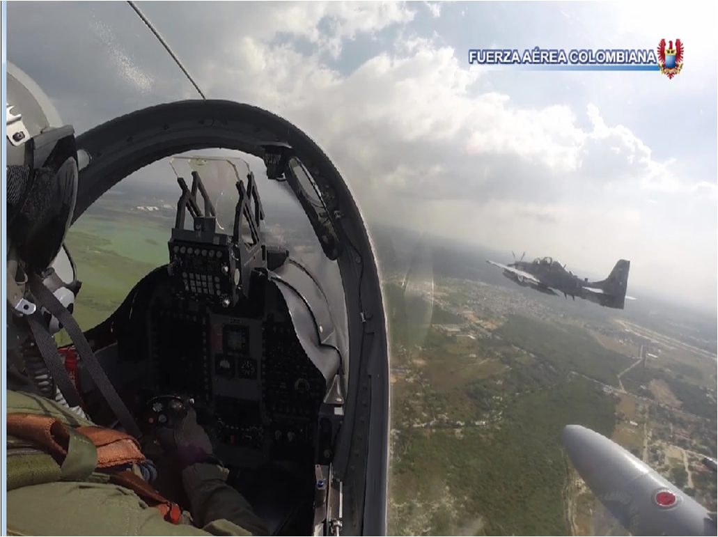 Colombia and the Dominican Republic Conduct Counter Drug Trafficking Aerial Exercise