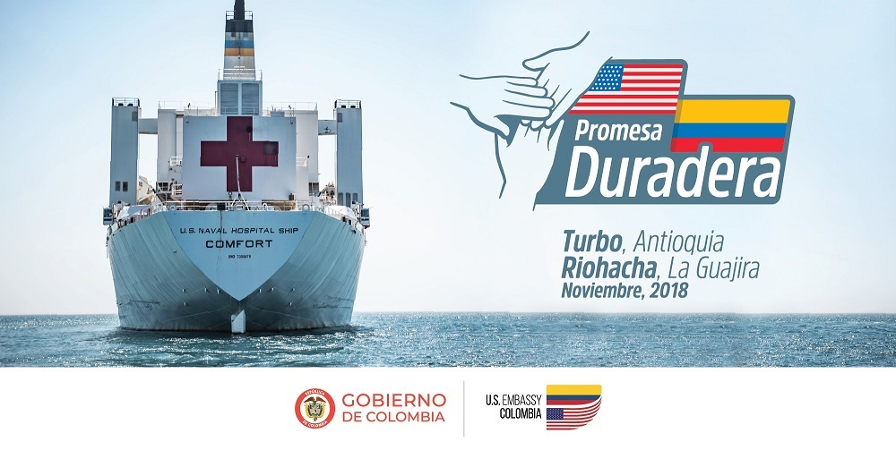 Colombia Announces Arrival of Hospital Ship USNS Comfort