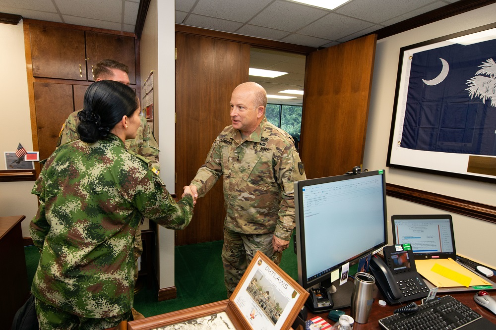 South Carolina Guard JAGS and Colombia Discuss Military Justice Systems