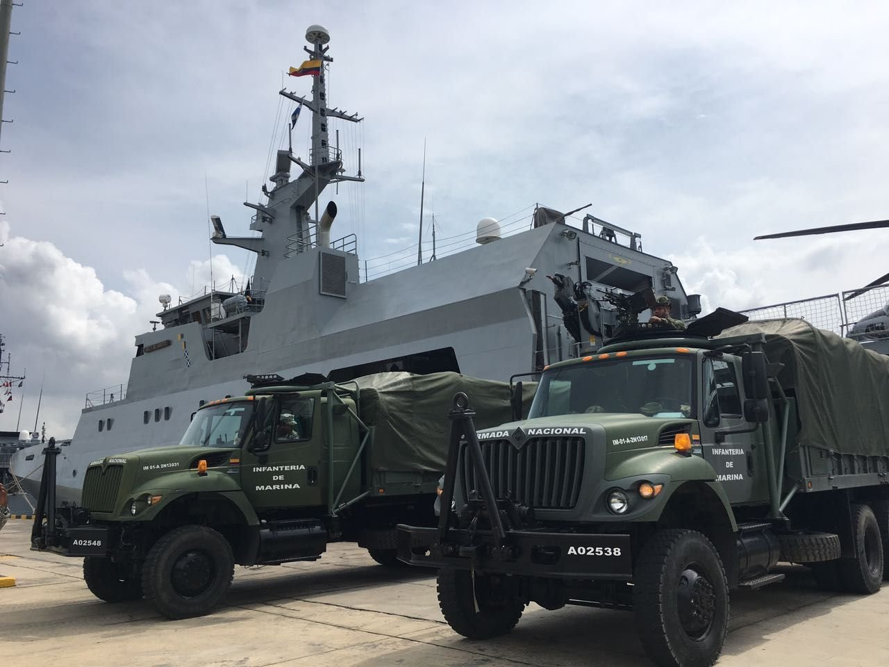 "Colombian Navy Ship ""ARC 7 de Agosto"" Prepares to Set Sail to Provide Humanitarian Aid to Haiti"