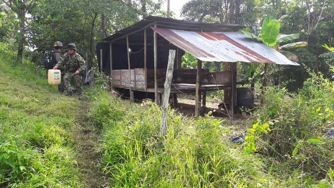 Colombian Military Destroys Four Drug Labs