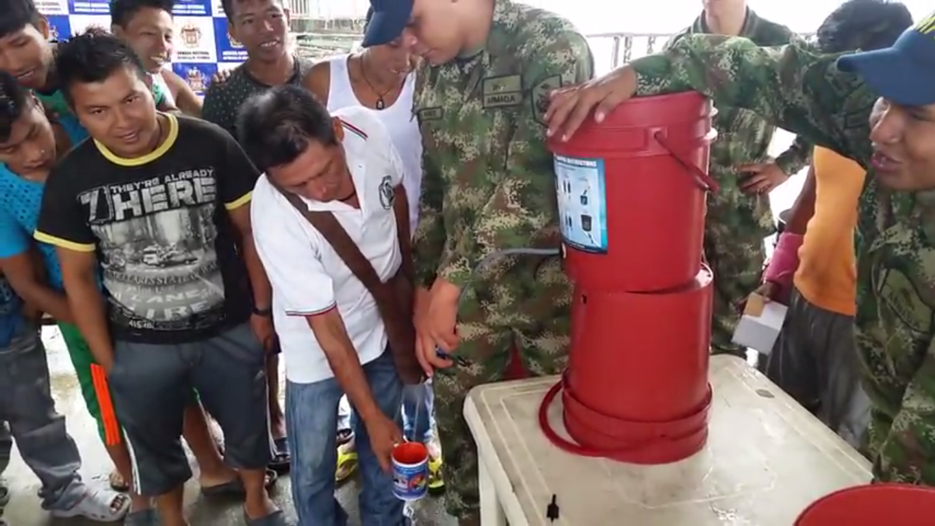 Indigenous Communities from Chocó, Colombia Drink Potable Water for the First Time