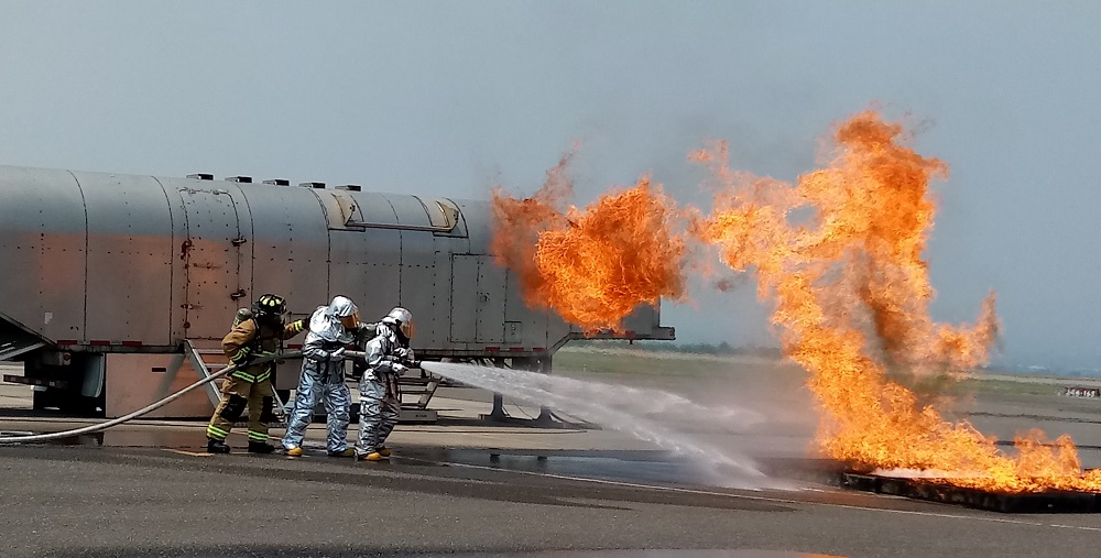 Central American Firefighters Train with U.S. Service Members