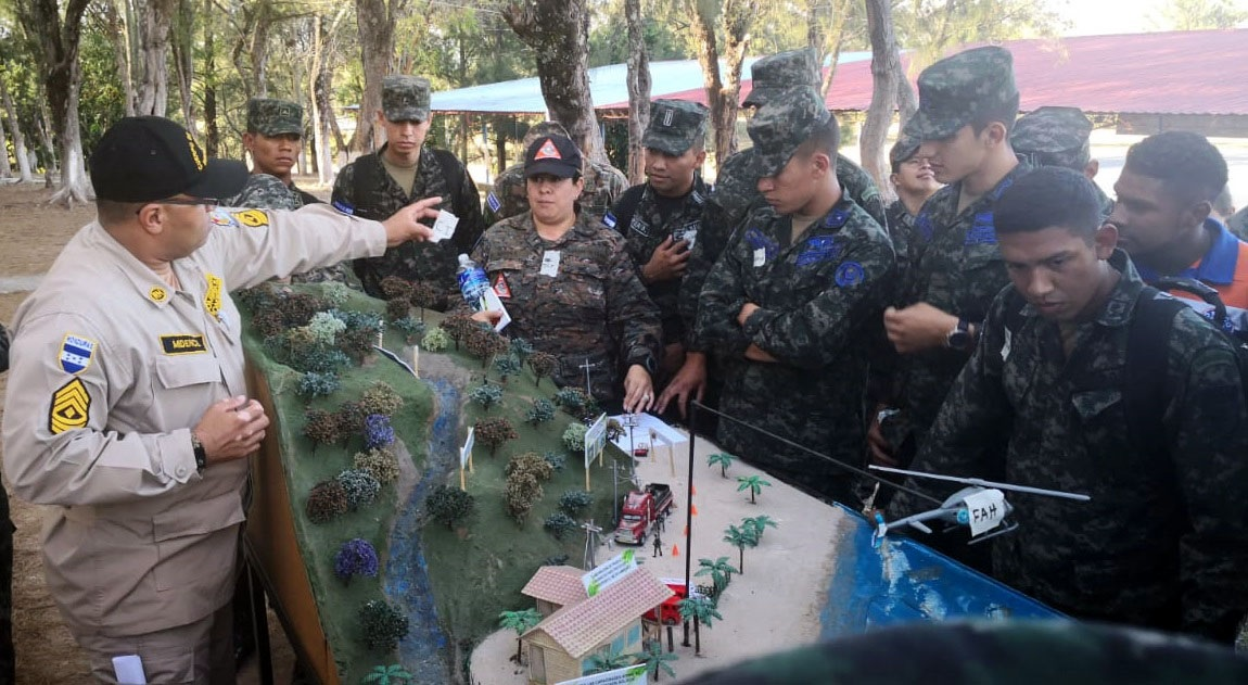 Central American Troops Receive Firefighting Training
