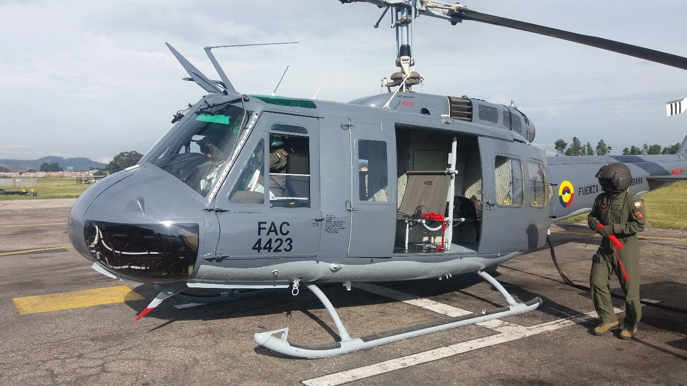 Colombian Air Force Upgrades Its UH-1H Helicopters