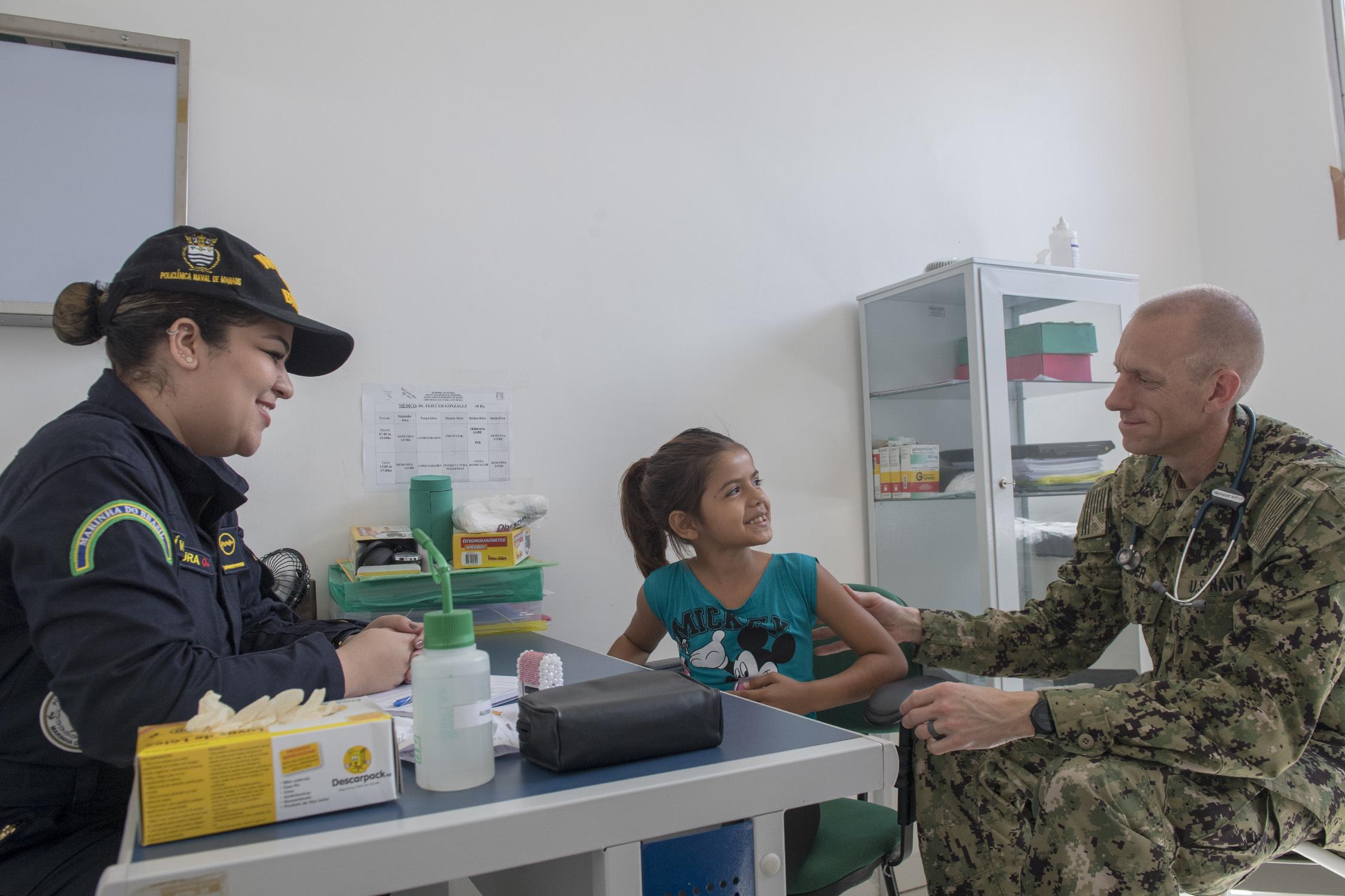 U.S. Navy Doctors Join Brazilian Hospital Ship Mission along Amazon River