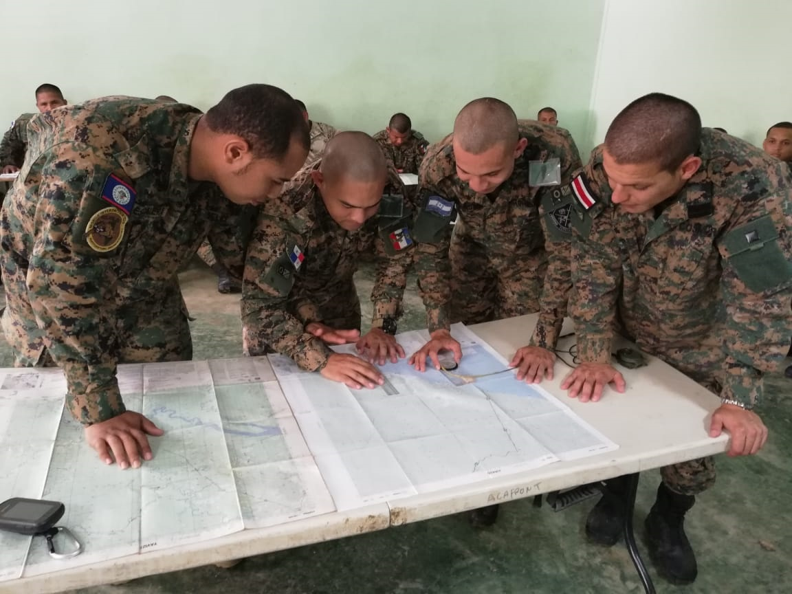 Central American Forces Receive Land Exploration Training