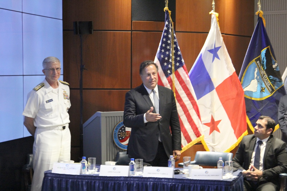 Panamanian President Meets With SOUTHCOM, Interagency Leadership