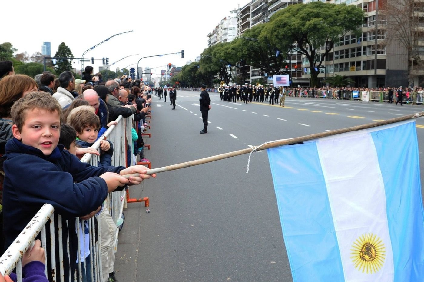 U.S.Fleet Forces BandPerforms in 200th Anniversary of Argentine Independence Parade