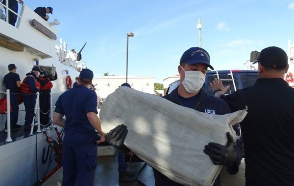 U.S. Coast Guard Offloads $30 Million Worth Of Seized Cocaine in San Juan, Puerto Rico