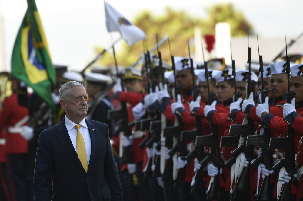 Mattis Criticizes Chinese Aggression during South American Tour