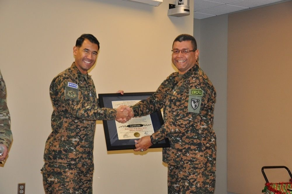 Salvadoran Army Captain is TRADOC's Officer Instructor of the Year