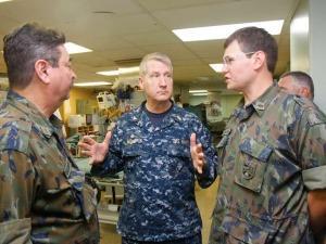 Brazilian Military Doctors Visit American Hospital Ship