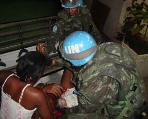 Brazilian Battalion Patrol Delivers a Baby in Haiti