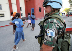 Peacekeepers' Role Evolves After Quake