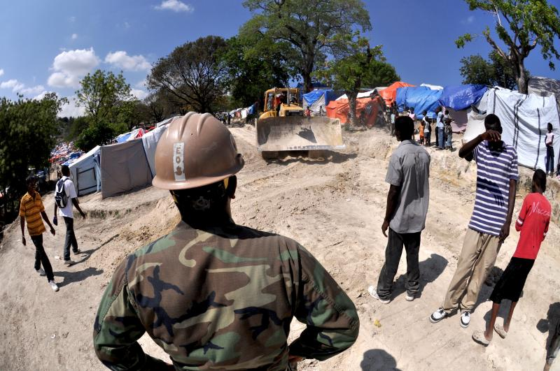 Seabees Improve Conditions In Petionville For Displaced Haitians