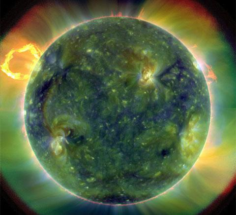 NASA Unveils First Images From New Solar Satellite