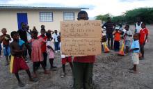Haitian community thanks U.S. troops for new school