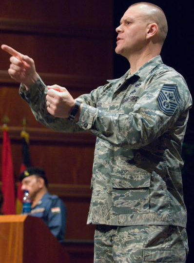 First Iraqi Enlisted Chief Visits Air University