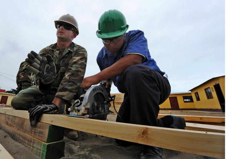 Navy Seabees Partner With Peruvian Sailors To Renovate Elementary School