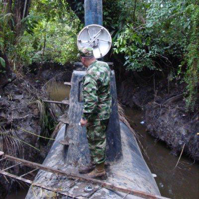 Pacific Naval Forces Seize First Submarine in Colombian Jungle