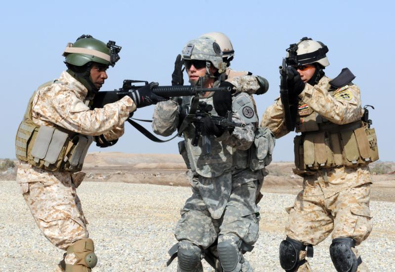 Iraqi Troops Practice Combat Skills