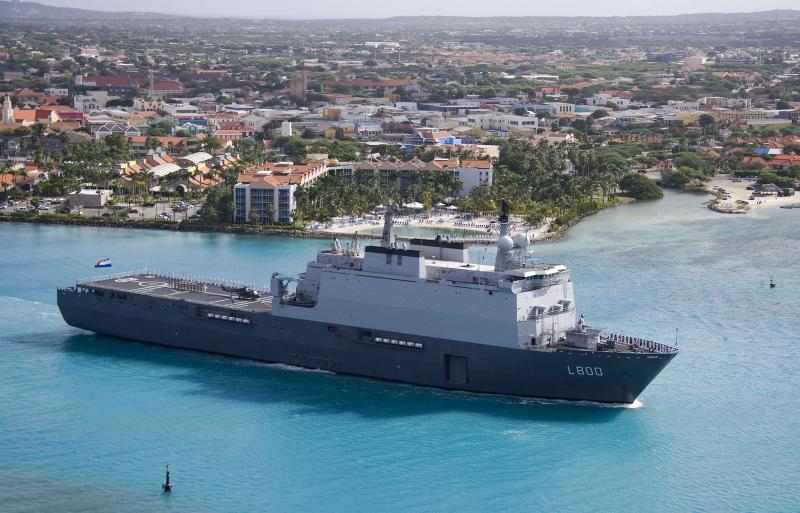 Netherlands Navy Ship Patrols Caribbean Sea