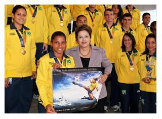 Brazilian President Welcomed Military World Games Medal Winners