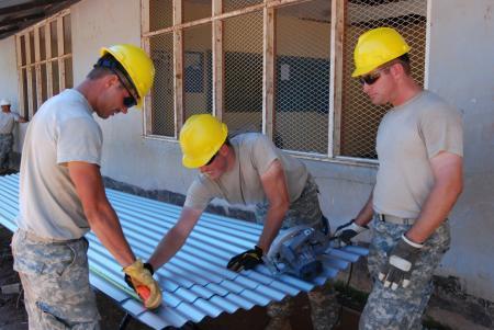 U.S. National Guard Officers Help Renovate School in Suriname