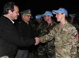 Chilean Defense Minister Bids Farewell to Contingent Travelling to Haiti on Peace Mission