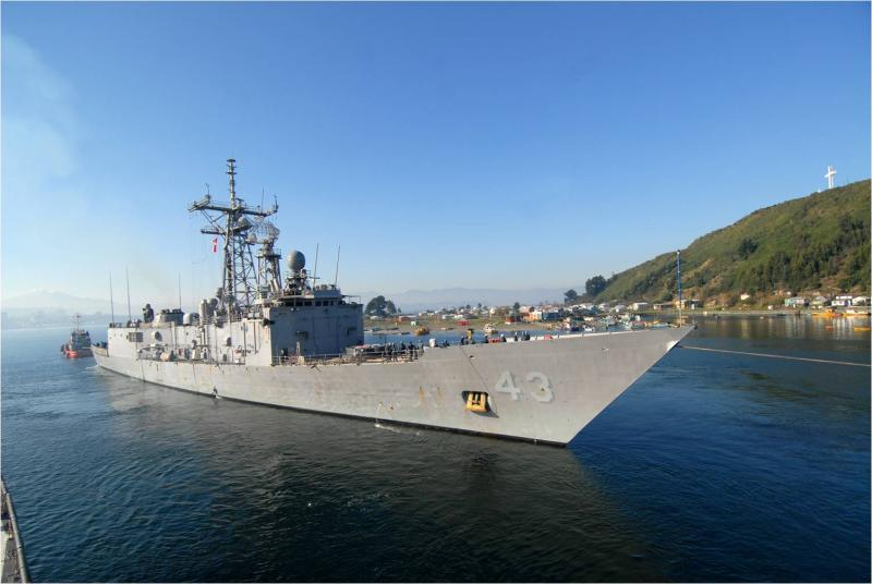 USS Thach Arrives in Panama for PANAMAX 2011