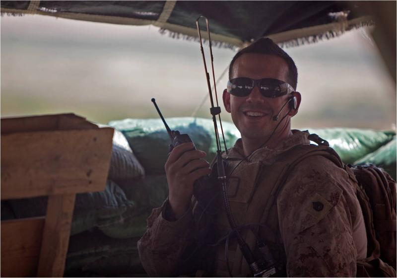 Marine Locates Enemy Fighters