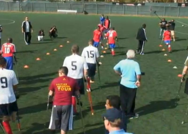 Haitian Amputee Soccer Team Inspires Walter Reed Wounded Warriors