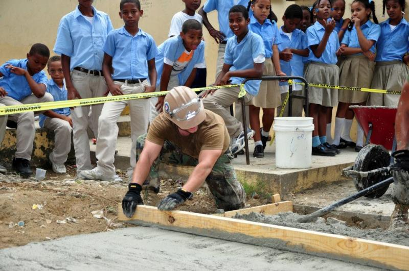Dominicans Work with Seabees on Community Project