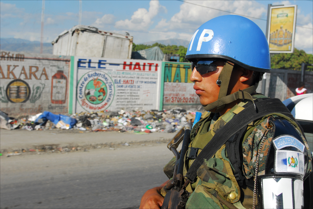Guatemalan UN Peacekeepers Help Maintain Law and Order in Haiti